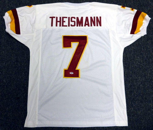 Joe Theismann Washington Redskins NFL Hand Signed Authentic Style White Football Jersey