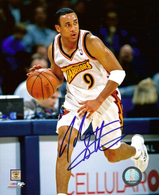John Starks NBA Golden State Warriors Hand Signed 8x10 Photograph White Jersey