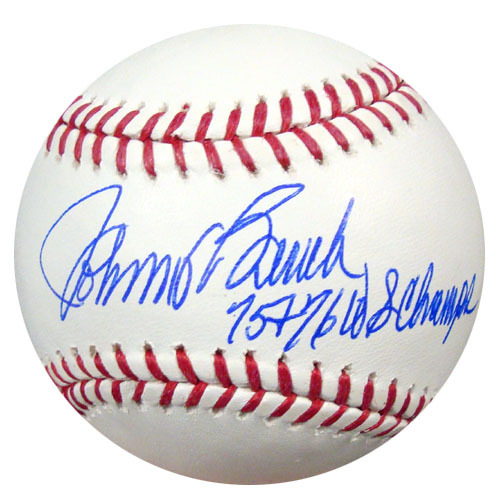Johnny Bench Cincinnati Reds Hand Signed Rawlings MLB Baseball with 75-76 WS Champs Inscription