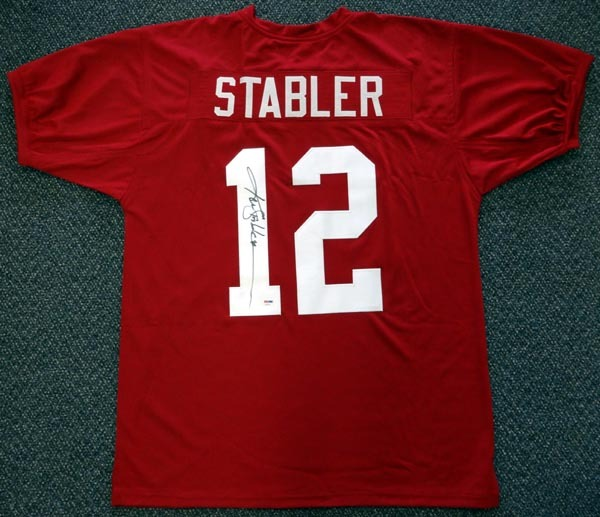Ken Stabler Alabama Crimson Tide NCAA Hand Signed Authentic Style Maroon Jersey